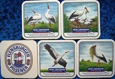 Bierdeckel Serie Sammlung - Flensburg - Flensburger Brauerei - Weißstorch - 1991