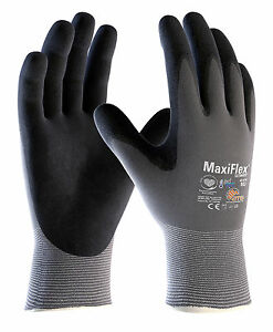 12x Pair ATG MaxiFlex Ultimate Nitrile Breathable Light Work Grip Gloves(42-874)