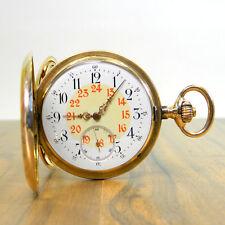 LONGINES GOLD SAVONNETTE TASCHENUHR 14K 585ER GOLD KALIBER 19.58 JAHR 1900