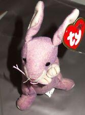 Ty Retired Teenie Beanie Baby, Springy the Lavender Bunny Tag & Beanie VG Cond