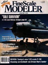 FINE SCALE MODELER JAN 94 WW2 TBF-1 AVENGER_von BRAUN MARS LANDER_T-34_MIG-17F