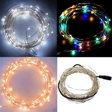 10M 100Leds DC 12V Starry Lights Fairy Copper Wire LED Lights Strings Lamps UK