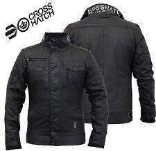 Mens Jacket Crosshatch Plixxie Coat Padded Full Zip Double Layer Winter Warm2017 Large