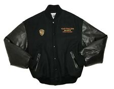 Van Halen Crew Tour Jacket 1995 Balance World Tour Wool Leather Star Gear Sz Med