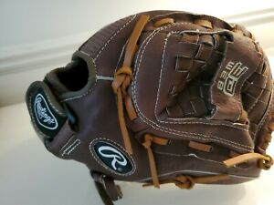 """RAWLINGS FP125 12 1/2"""" FastPitch Web Softball Leather LEFT Hand Glove"""