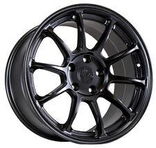 17X9 +35 Aodhan Ah06 5X114.3 BLACK Wheel Fit G35 S2000 Tl 350Z 240SX S15 CONCAVE