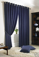 MADISON Eyelet Ring Tops Fully Lined Curtains + Free Pair Of Tie Backs Included