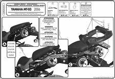 GIVI 356FZ STAFFE MONORACK BAULETTO MONOKEY MONOLOCK YAMAHA MT03 600 2006 2007