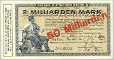 Düren Euskirchen Jülich Schleiden Stolberg Eschweiler 50 Milliarden Mark (1923)