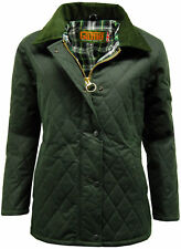 Womens Game 'ZARA' Wax Quilted Jacket / Coat