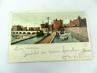 Vintage NEW YORK Postcard 1910 Rochester The Erie Canal Crosses The Genesee