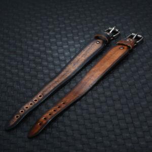 Unisex Simple Surfer Leather Cuff Bracelet Wristband Men Bangle Punk Clasp Wrap
