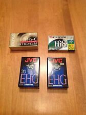 4 Camcorder Cassettes Tapes Maxell, Jvc, Fujifilm