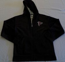 Atlanta Falcons Full Zip Hoodie Youth Small Black Pattern Embroidered Logo NFL