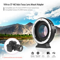 Viltrox Ef-m2 Auto Focus Adapter Speed Booster F/ Canon Ef Lens To Mft M3/4 F6I7