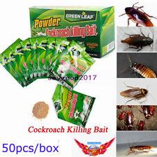 50pcs Pesticide Insecticide Effective Powder Cockroach Killing Bait Roach Killer
