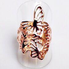 Traumhaft schöner Schmetterlinge Designer Ring II vergoldet 18,8 mm