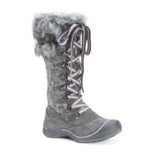 Muk Luks Gwen Polyester/Faux Fur Winter Snow Boots Grey Womens Size 9