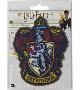 """Harry Potter GRYFFINDOR crest embroidered iron on patch 4"""" x 3"""""""