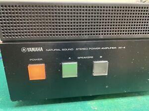 Yamaha M-4 Stereo Power Amplifier