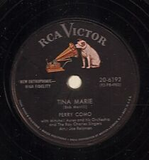 Perry Como on 78 rpm RCA Victor 20-6192: Tina Marie/Fooled