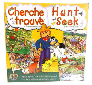 French American Language Learning Board Game Hunt and Seek I Spy Gladius New