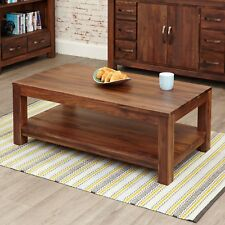 Baumhaus Mayan Walnut Open Coffee Table CWC08C