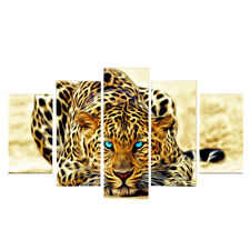 Canvas Painting Oil Print 1 Leopard Wall Art Picture Home Hotel Decor 5pcs S