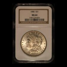1886 $1 Morgan Silver Dollar NGC MS64 - Free Shipping USA
