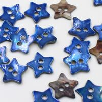"J527 Lot 10//20//50 20L 1//2/"" Japan Blue B Real Pearl Shell Heart Crafts Button DIY"
