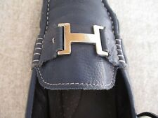 HERMES H BUCKLE LOGO BLUE ONE SHOE, SZ 42 FOR PARTS H5889-1 (one shoe for sale)