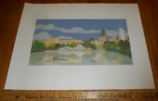 Vintage Poster Print by Frank McShane of Philadelphia Rowing on Schuylkill River