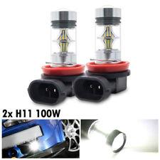 2Pcs H8 H11 100W 2323 Voiture LED Phare Feux Brouillard Lampe Blanc 6000K Xenon
