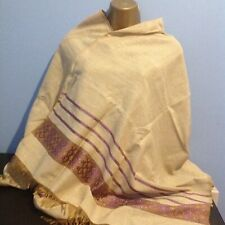 Ethiopian Traditional Scarve with PURPLE Tilet and  a touch of Golden!
