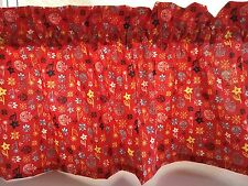 NEW Red SUMMER/ SPRING FLOWERS ALL OVER Valance Curtain