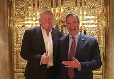 PRESIDENT TRUMP NIGLE FARAGE ICONIC A4 NEW GLOSSY PHOTO POSTER PRINT 11.75X8.25