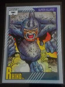 [1991] THE RHINO - SPIDER-MAN - Marvel Comics Trading Card #73 [NM 9.8] Impel