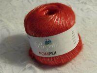 NEW ROZETTI POMPEII Aflame Red Acrylic Polyamide Medium 4 Yarn 50g Turkey Made