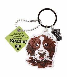 Brown Springer Spaniel 3D Key Ring Bag Charm Tag Dog Lovers Gift Stocking Filler