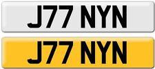 JOHNNY  NUMBER PLATE PRIVATE STYLE:John Jo Joe Joo JONY JOHN JONNY - REG J77 NYN