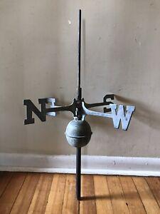 Vintage Brass NSEW Weathervane Directionals Copper Ball & Center-post  PARTS