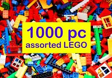 1000pc (1.2kg+) Assorted Lego Hand sorted and counted - washed & sterilised!