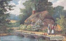 TUCK: PICTURESQUE COUNTIES-DORSET-Hangman's Cottage,Dorchester-WEST-OILETTE 7763