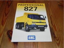 BMC 827 Pro Turkey Truck LKW Prospekt 2004 Brochure Katalog Catalogue Depliant