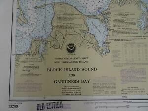 Lot 11 RI CT NY NOAA Nautical Navigational Maps Charts circa 1970s to 1980s