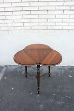 Charming Antique English Triangle Clover Shaped Accent Occasional Table, 19th C.
