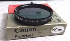 Genuine Canon 49mm Polarizing Polarizer PL Glass Lens Filter 49 mm Japan Pola