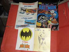 BATMAN -ALBI CENISIO  N°1 -DEL 1976 COMPLETO DEI DUE RARISSIMI ADESIVI