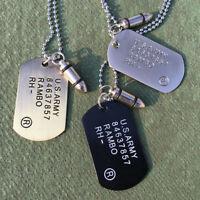 Männer Sweater Chain Warhead Halskette Anhänger für Hundemarken Militärische