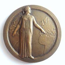 MEDAILLE  en bronze Assurance l'union  INCENDIE place Vendome  1928 (T175)